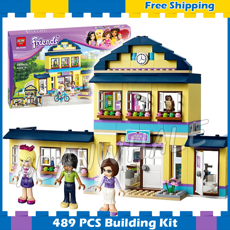 489pcs Friends Heartlake High Performance School Stephanie 10166 Model Building Blocks Princess Gifts sets Compatible with Lego 489pcs heartlake city high school bela building blocks toy set friends educational toys compatible with lepine friends 41005