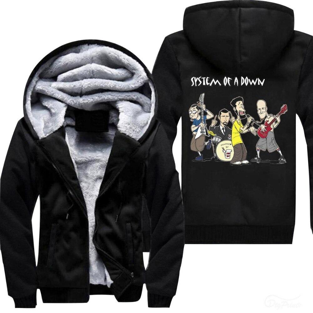 Funny music band printed hoodies  Big Sale printed Hood Men's Warm Fleet Hoodies 2018 dropshipping steetwear