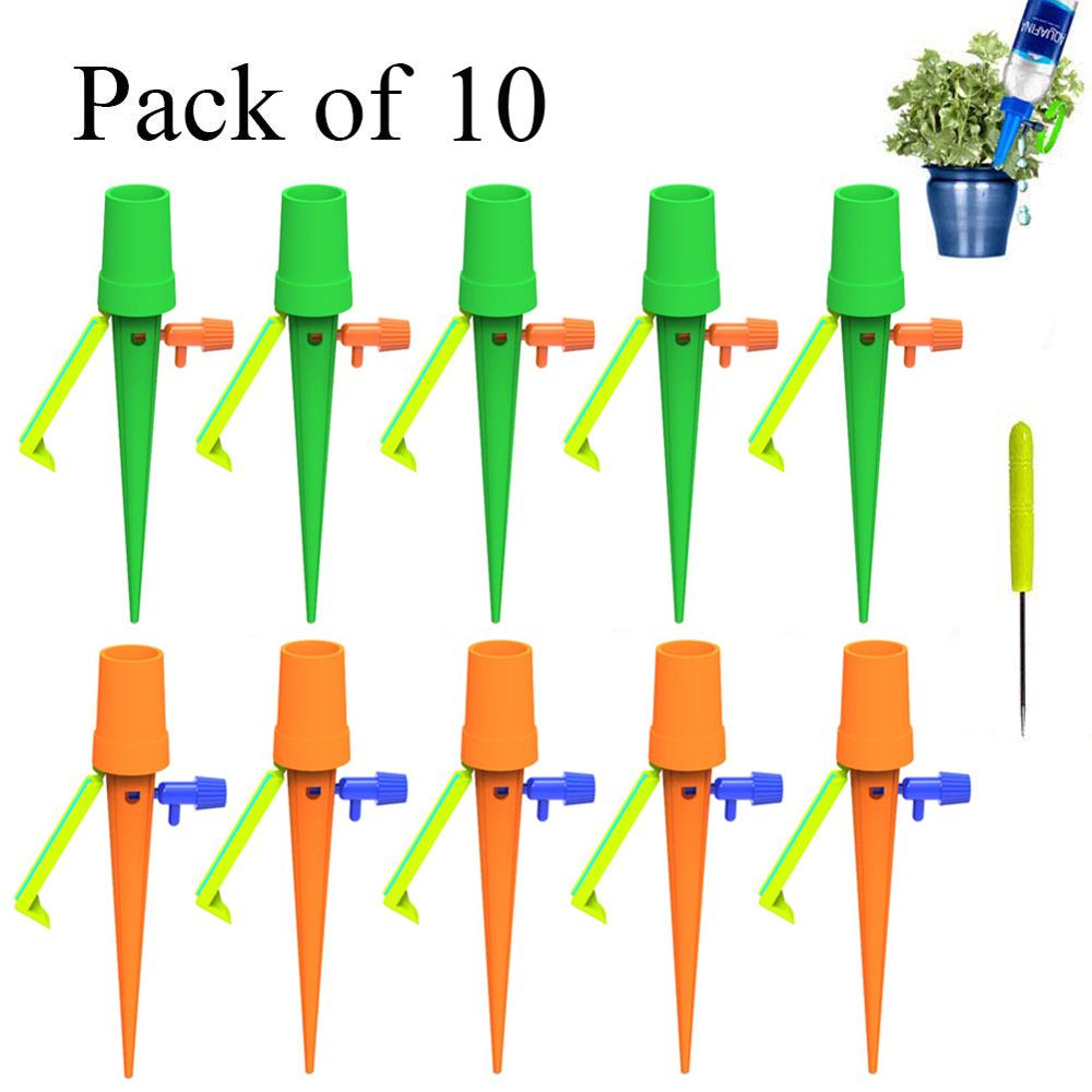 10pcs New Watering Kits Self Automatic Plant Watering Spikes Adjustable Stakes Irrigation System Watering Device for Houseplant-in Watering Kits from Home & Garden