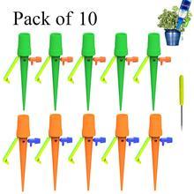 Kit de riego automático con estacas ajustables, 10 Uds., dispositivo de riego para plantas domésticas