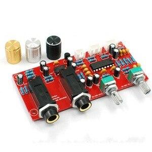 Image 2 - 12 V Karaoke Ses Kartı PT2399 ile NE5532 Preamplifikatör Mikrofon Amplifikatör + Panel