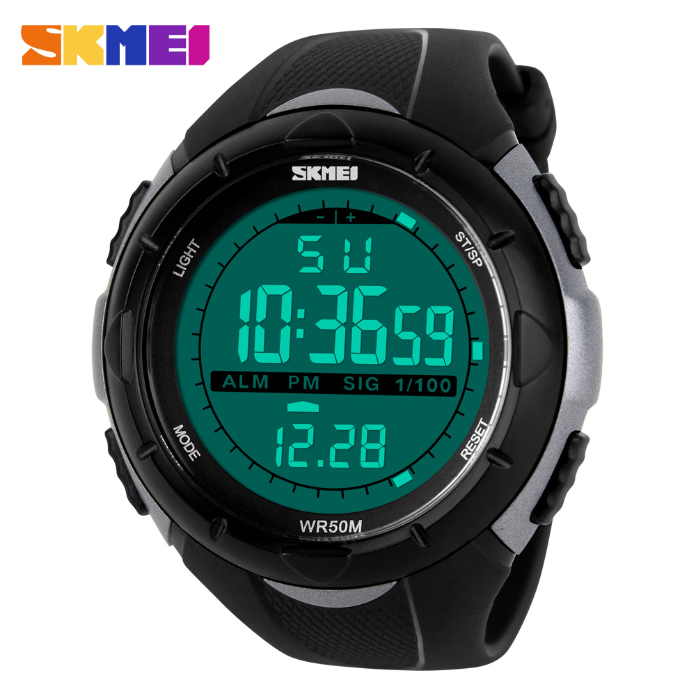 Hot SKMEI Luxury Brand Mens Sports Watches Dive 50m Digital LED Military Watch Men Boy Fashion Casual Electronics Wristwatches 2