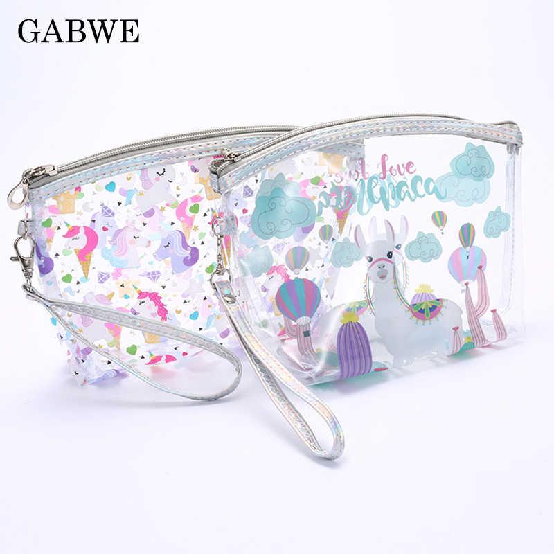 e3fd88d1fc85 GABWE New Women Unicorn Cosmetic Bags Cute Makeup Bag For Girls ...