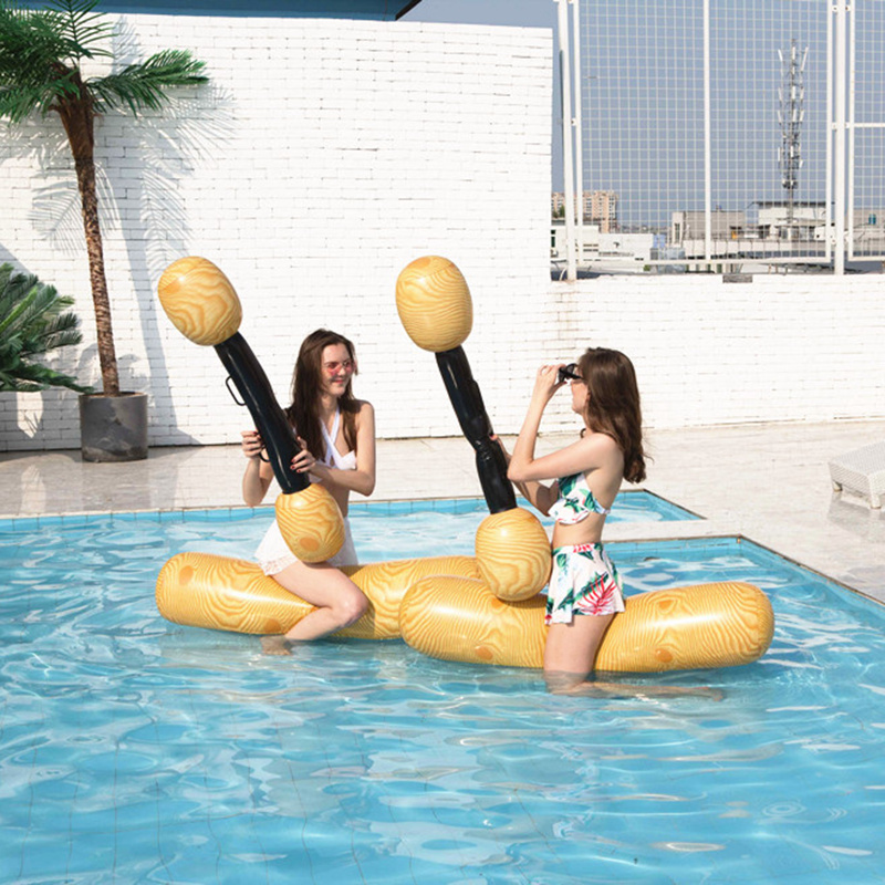 2pcs/set Joust Pool Float Game Water Sport Inflatable Swimming Pool Accessories Amusement toys For Kids Adult Gladiator Raft