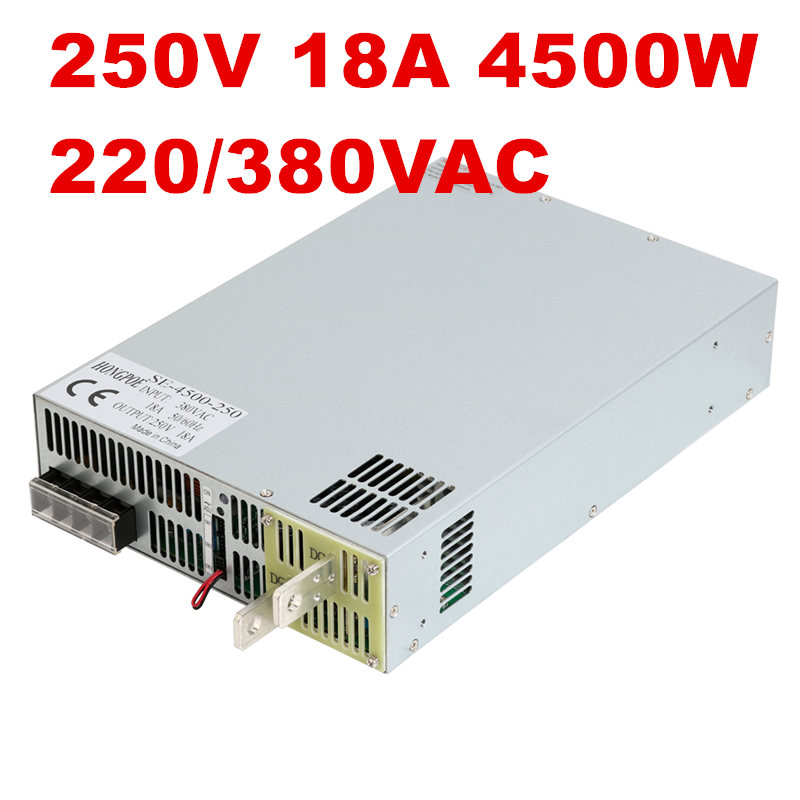 4500W 250V 18A DC25-250v power supply 250V18A AC-DC High-Power PSU 0-5V analog signal control SE-4500-250 DC250V 18A цена