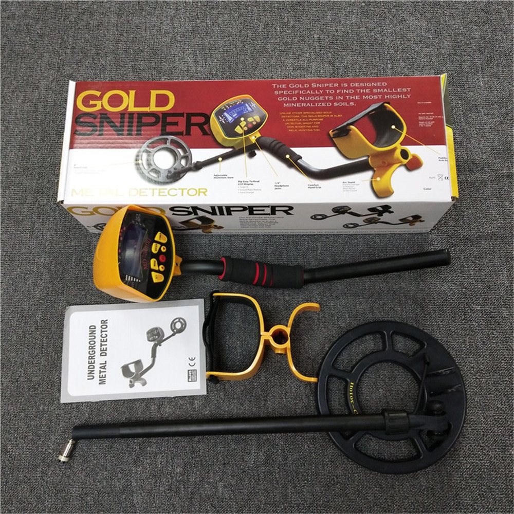 Free Shipping MD 3010II Hot sale gold fully automatic with LCD underground metal detector MD3010II Gold