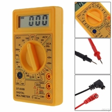 цена на LCD Digital Voltmeter Ohmmeter Ammeter Multimeter Handheld Tester AC DC Amp Volt Ohm Tester Yellow