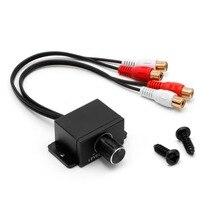 Горячая Универсальный автомобильный аудио усилитель бас RCA уровень дистанционного управления громкостью ручка LC-1