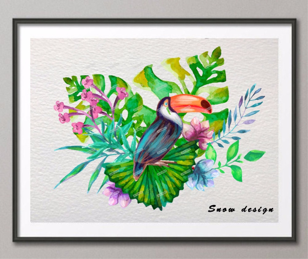 Popular tropical bird paintings buy cheap tropical bird for Cheap prints and posters