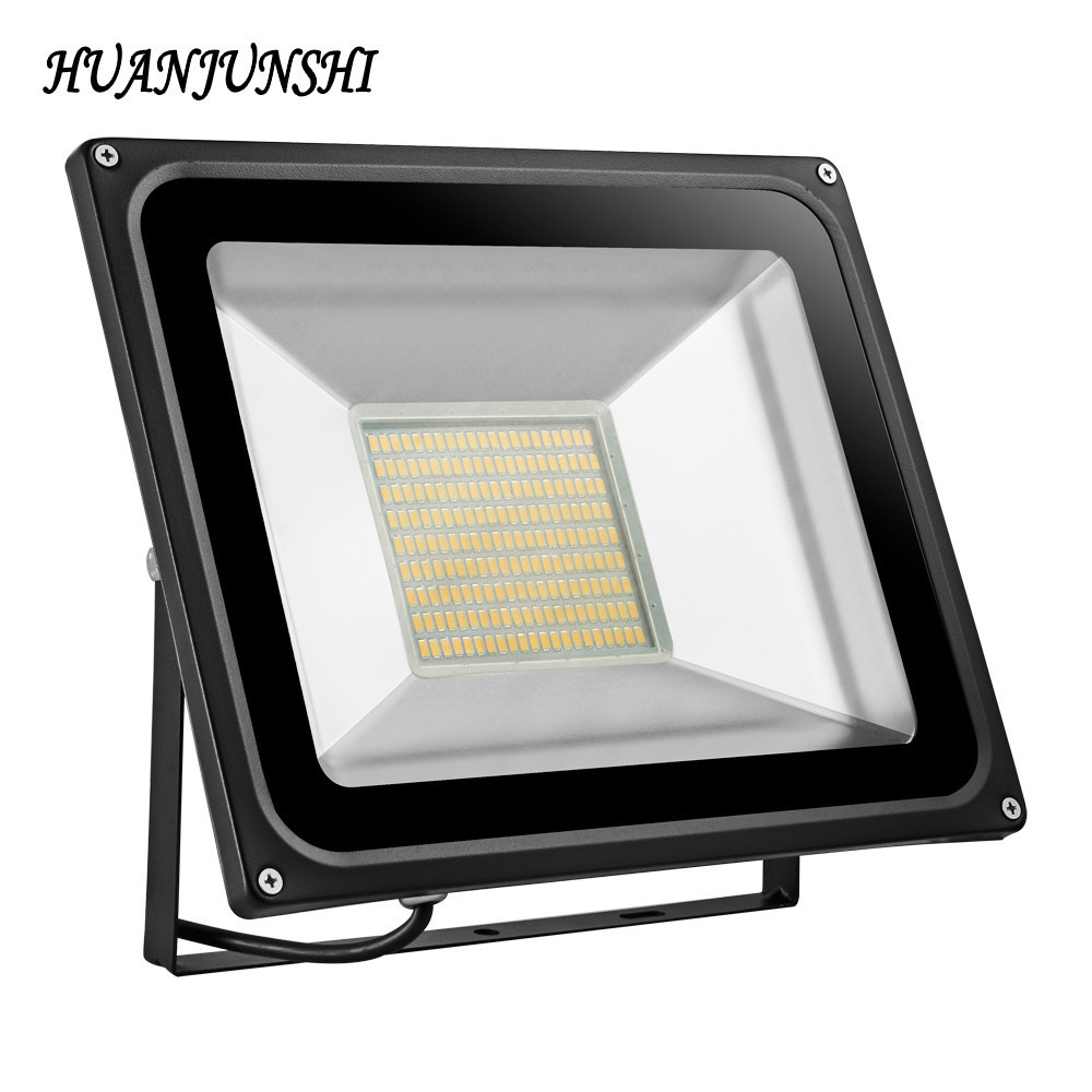 2PCS 100W 220V Led Flood Light Outdoor Lights 7000LM SMD5730 189LED Floodlights For Street Square Spotlight Outdoor Wall Lamp 100w 7000lm 525nm 100 led green light lamp module 10 series and 10 in parallel 30 34v
