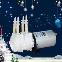 Mini water pump double head Micro peristaltic pump 12V kpp2 small electric dosing pump Low flow