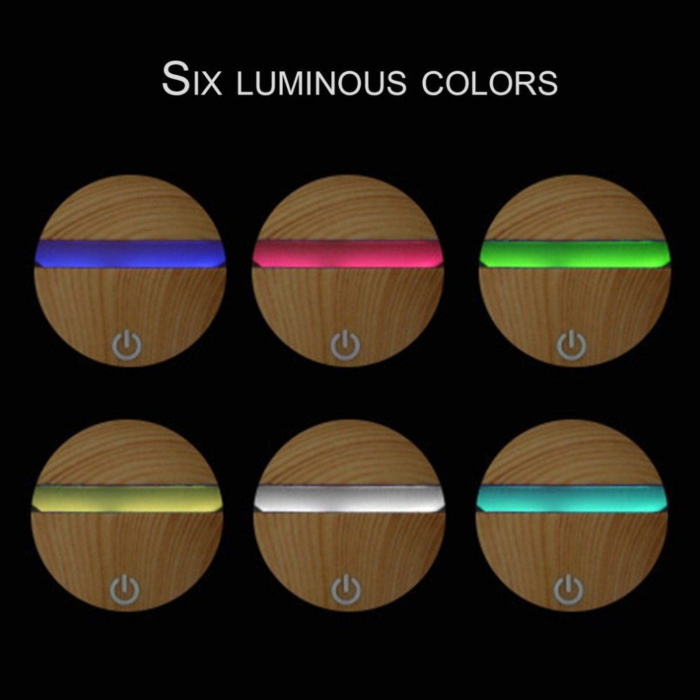 130ML Portable Size Wooden Aroma Essential Oil Diffuser Home Office Ultrasonic USB Rechargeable Mist Humidifier DC 5V 8W black western style fashion portable