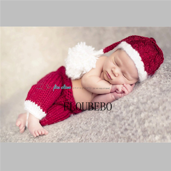 2pcs Elf hat+pants Santa Claus Halloween Christmas baby set Newborn Warmer Clothes Accessories Handmade Knitted New Born Infant inflatable cartoon customized advertising giant christmas inflatable santa claus for christmas outdoor decoration