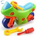 Xfc novas crianças puzzle crianças brinquedos educativos presente do bebê diy brinquedo modelo de moto