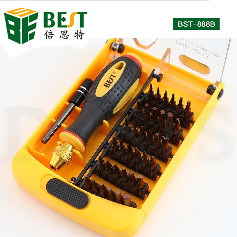 BES 38 in 1 Precision Screwdriver Set Disassemble For Tablets Phone Computer Laptop PC Watch Mini Electronic Repair Tools Kit image