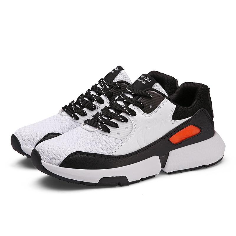 branco Nova Desodorante Outono Malha Sapatos Masculinos Preto Tênis Maré Respirável Cem Voando Casuais cinza qYYtOH