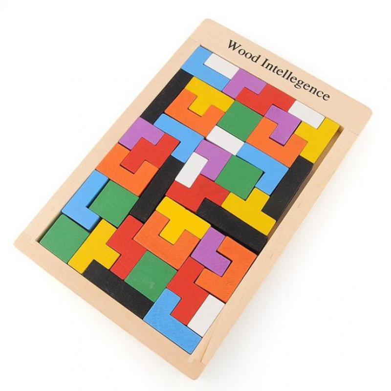 Muti-color de juguetes rompecabezas de madera educativos niños juguetes rompecab
