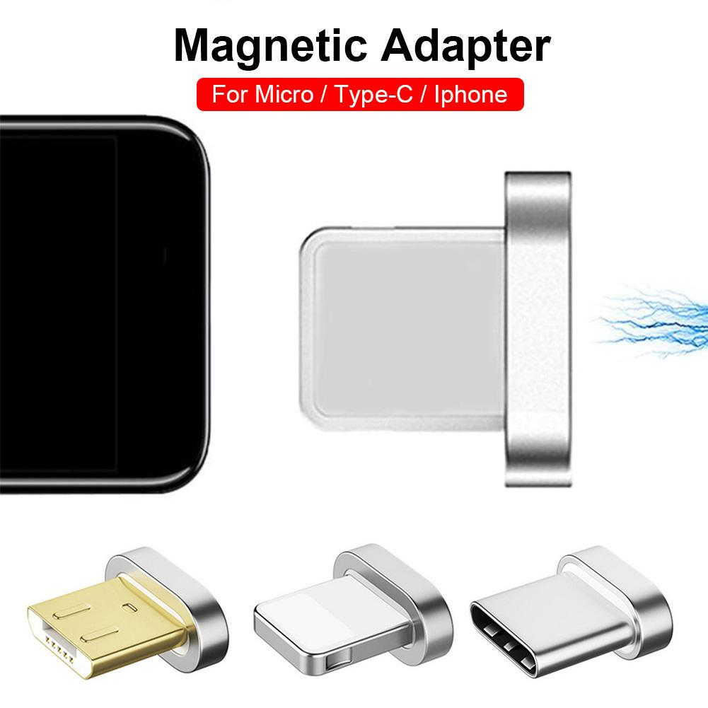 Original Magnetic Cable Plug Type C Micro USB C 8 Pin Fast Charging Adapter Micro Usb Magnet Charger Cord Plugs Storage Box Bag