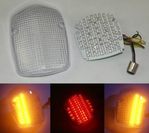 waase For HONDA SHADOW SABRE 1100 2000 2001 2002 2003 2004-2008 E-Mark Rear Tail Light Brake Turn Signals Integrated LED Light