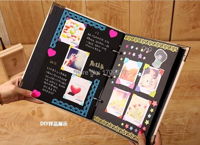 fotoalbum diy baby rekord bild album geburtstag sch ne geschenk handmade kind geschenk freundin. Black Bedroom Furniture Sets. Home Design Ideas