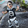 2016 Niño Bebé Niño de Manga Corta T-shirt Top + Pants Clothes Outfit Suit Set Ropa de Los Niños del Juego de Los Deportes para el Bebé