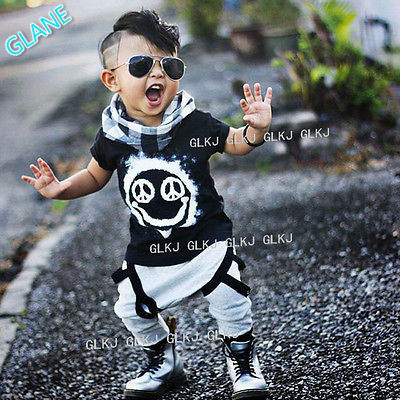 2016 Toddler Kid Baby Boy Short Sleeve T-shirt Top+Pants Clothes Outfit Set Suit Children's Clothing Sports Suit For Baby Boy