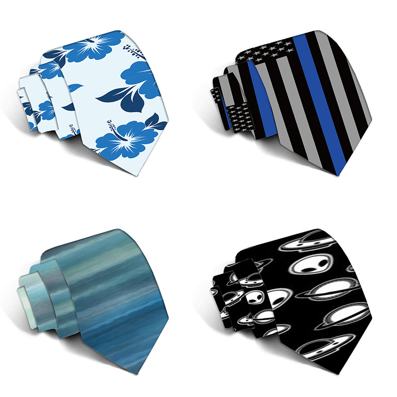 New Fashion Funny Neckties For Men Cartoon Novelty Ties Colorful 3D Printed Neck Ties Wedding Gift Party Accessories 5LD19
