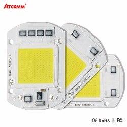 Умная ИС (интеграционная Схема высокое Мощность СВЕТОДИОДНЫЙ матричный для проекторов 20 W 30 W 50 W 110 V 220 V DIY прожектор COB светодиодный диодный п...