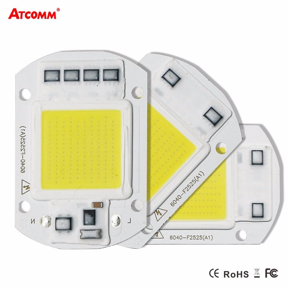 Smart ic высокое Мощность светодиодный матрицы для Проекторы 20 Вт 30 Вт 50 Вт 110 В 220 В DIY потока свет cob светодиодный диода прожектор Открытый чип лампы
