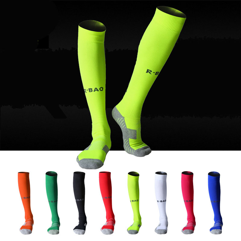 Outdoor MTB bike cycling socks Football Stockings Soccer Socks Ankle Support Long-barreled Pressure Football Sports Socks fishnet ankle socks