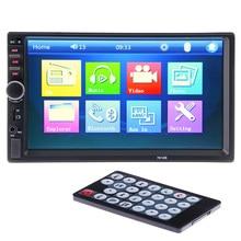 2 DIN Reproductor de Radio Del Coche pantalla Táctil 7'HD Cámara de Visión Trasera Bluetooth Estéreo FM/MP3/MP5/Video/Audio/USB Electrónica de Automóviles autoradio