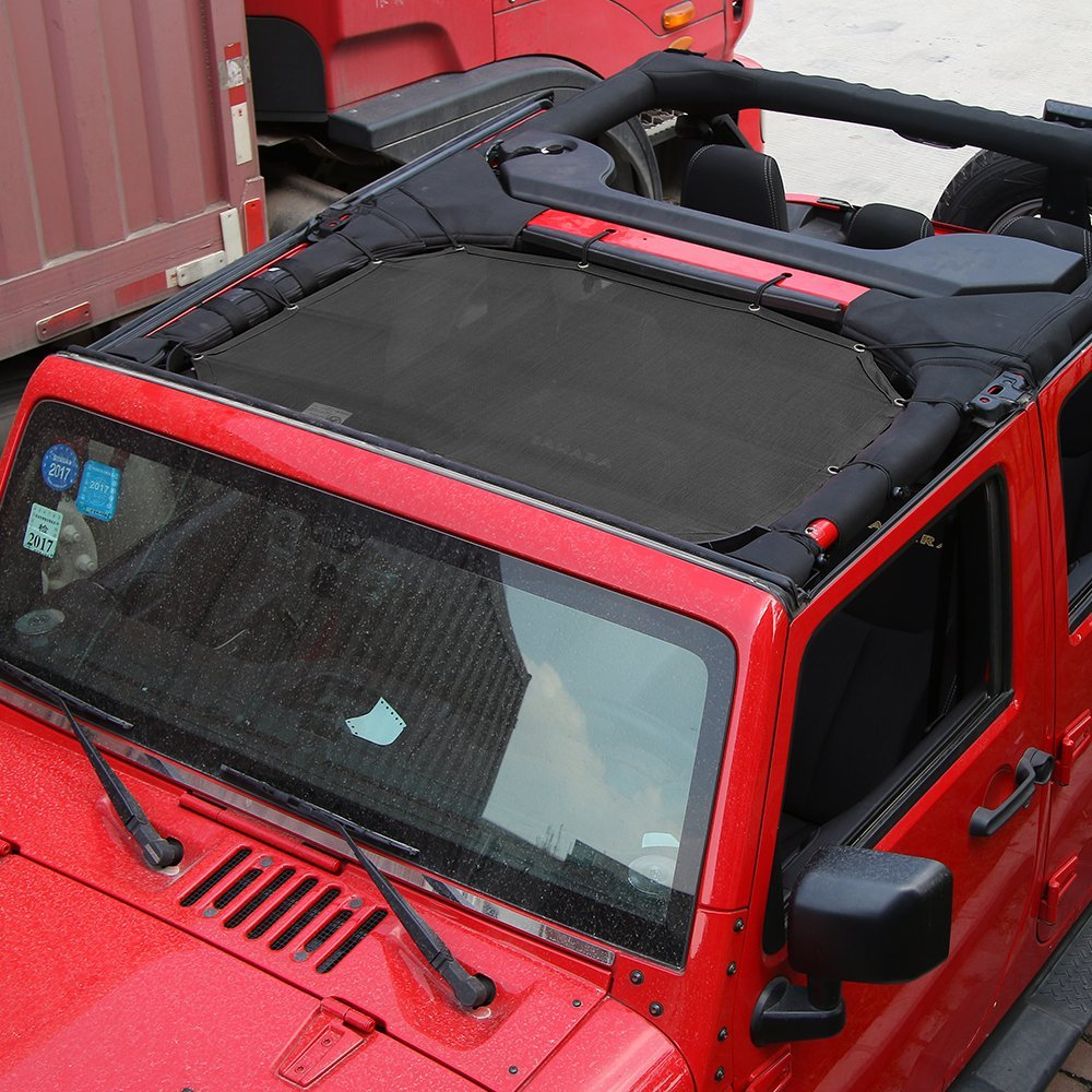 Eclipse Sun Shade UV Protection Top Cover For Jeep Wrangler JK 4-Door 2007-2018