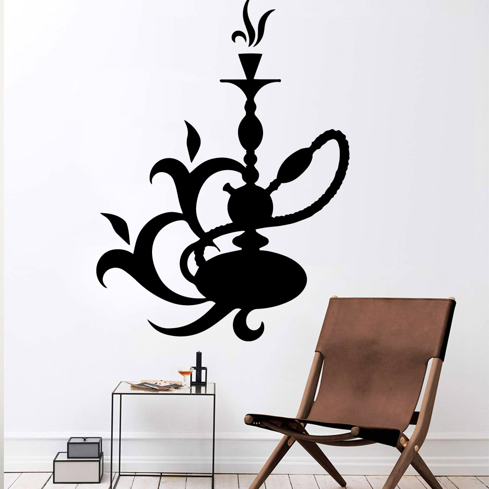 Diy Shisha Self Adhesive Vinyl Waterproof Wall Art Decal For Kids Rooms Decoration Wall Art MURAL Drop Shipping in Wall Stickers from Home Garden