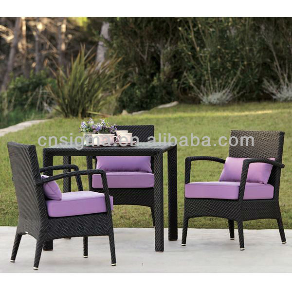 2017 Wicker Rattan Malaysia Dining Table Chairs Set