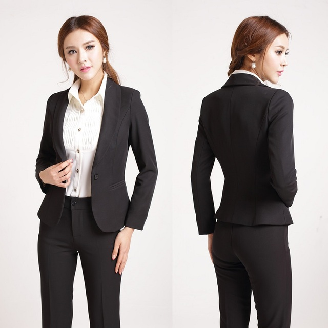 Formal Ladies Pant Suits For Women Work Wear Blazer Women Pant And