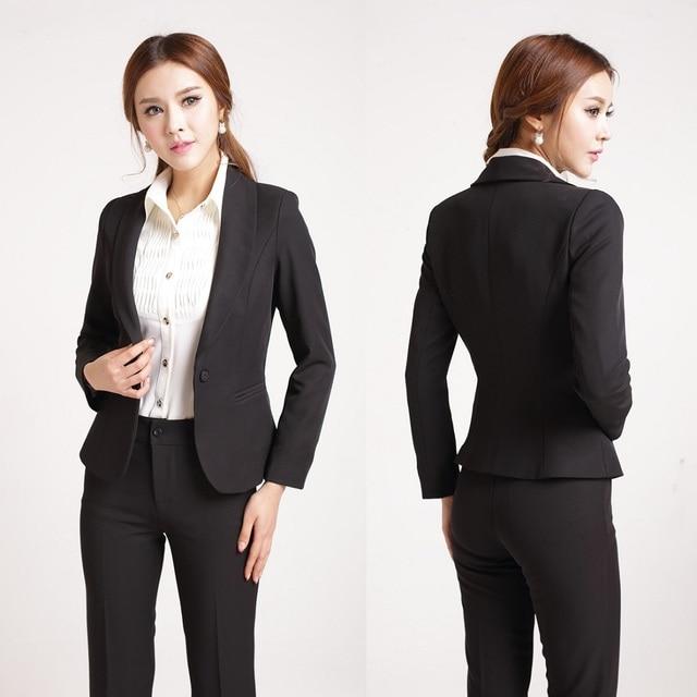 510743d74 Formal Ladies Pant Suits for Women Work Wear Blazer Women Pant and Jacket  Sets Elegant Ladies Office Wear Work Clothes
