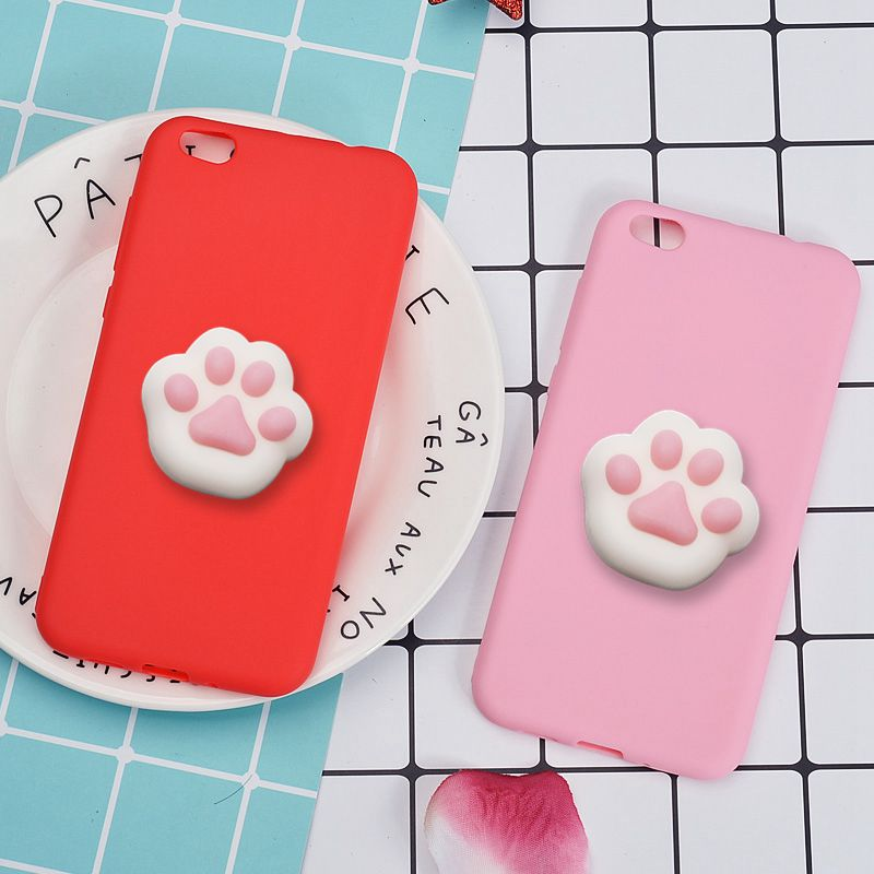 Case For Xiaomi 5C Mi5C Mi 5C 5 C 3D Squishy Cute Cat Bear Paws Back Cover Candy Lovely Silicone Funny Cartoon Squeeze Toys