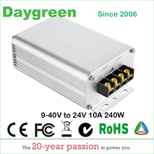 9 40V do 24V 10A DC konwerter DC reduktor stabilizator napięcia Step up Down typ 240w Daygreen CE 9 40V do 24V 10AMP