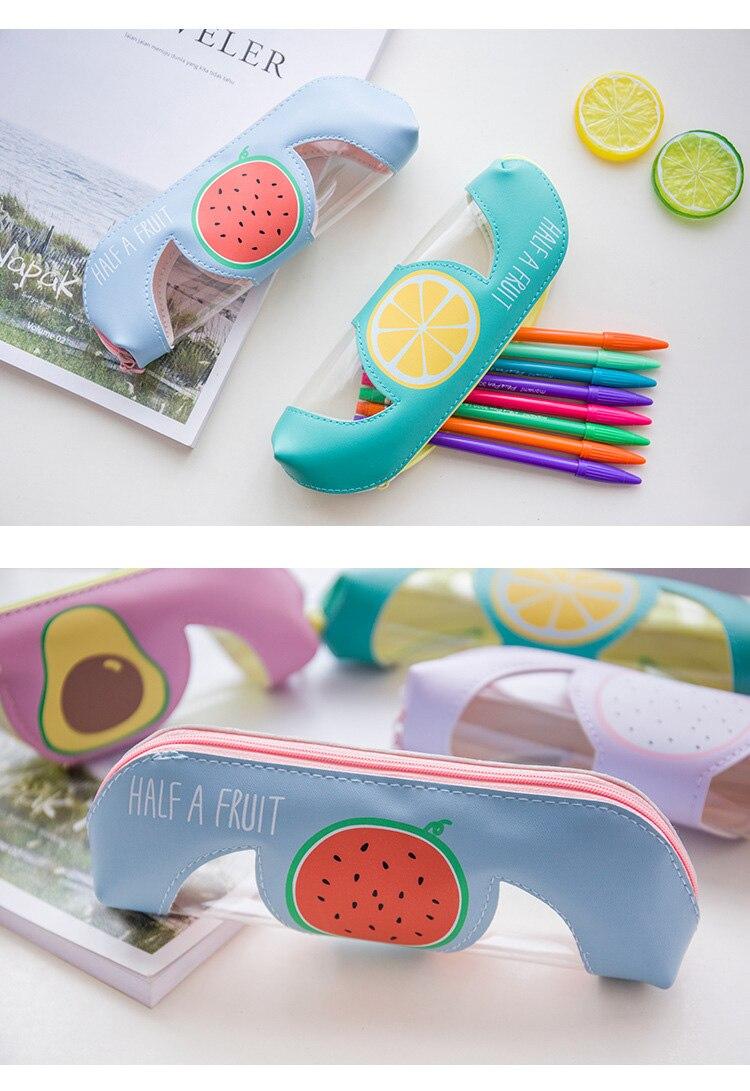 Pencil Case Leather Kawaii Fruit Food Bag School Boxes 6116 Getsubject Aeproduct