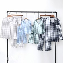 2018 Cotton Family Matching Outfits Casual Plaid Home Wear F
