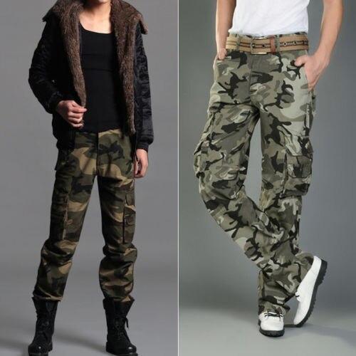 1687650431 Moda fresca para hombre flaco camuflaje exterior pantalones militares  pantalones casuales espesantes para hombre pantalones   A4608 en Pantalones  de carga ...