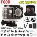 Горячие продажа Gopro hero 4 стиль F60R Действий камеры 4 К 30fps wi-fi Allwinner V3 Водонепроницаемый Пульт Дистанционного Управления перейти pro Спорт Камеры Мини Cam