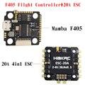 Контроллер полета Mamba F405 Mini & 20A BLheli_S 2-4S 4 в 1 ESC встроенный датчик тока бесщеточный ESC для модели RC
