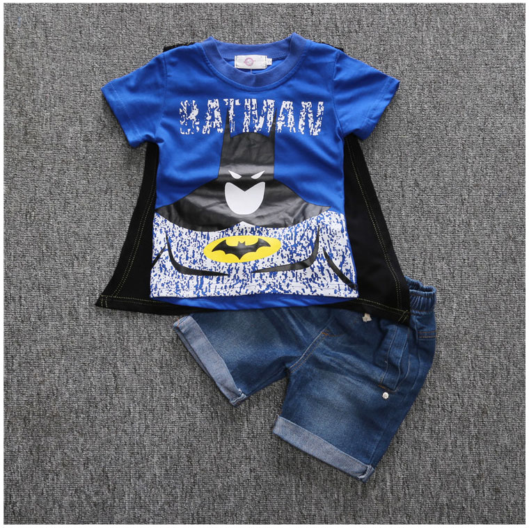 Summer-Brand-Clothes-For-Boys-Batman-Superman-Shirt-And-Short-Jeans-Toddler-Boy-Shorts-Sets-Streetwear-Kids-Outfits-Boys-Suits-1