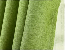Simple modern high-grade linen shade custom curtains finished bedroom curtains thick cotton