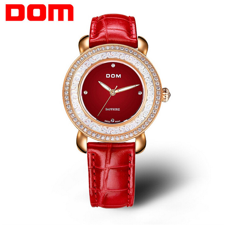 2016 DOM Watches Women Rhinestone Quartz Watch Reloj Mujer Brand Luxury Crystal Watch Women Fashion Dress Quartz Wristwatches hasbro hasbro play doh набор пластилина из 3 цветов