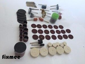 """Image 4 - Fixmee 100 adet döner aracı aksesuar Bit Set takım elbise Dremel 1/8 """"(3.175mm) saplı taşlama parlatma rotatif makinesi"""