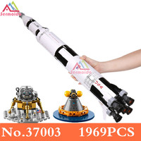 1969PCS Ideas NASA Apollo Saturn V - Building Toy and Popular Gift for Fans of Sets Compatible With 21309 B206