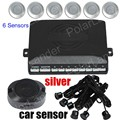 hot sale Car Parking Sensor Kit 6 Sensors reverse backup Sensors for Front And Back Parking System Sensor 9 colors available