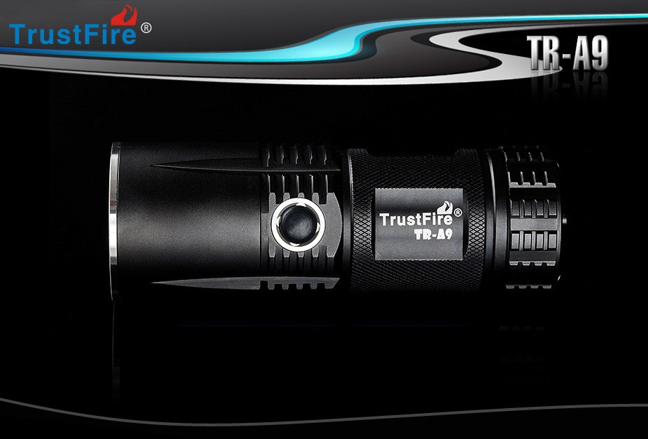 TrustFire A9 800 Lumens CREE XM-L L2 Led Torch 5 Mode LED waterproof Flashlight By 4x14500 Battery trustfire a9 2 cree xm l2 cool white light 900lm 5 mode led flashlight 1x26650 1xcharger